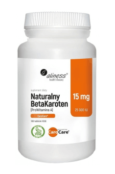 Natural BetaCarotene 15mg