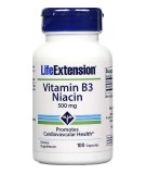 Vitamin B3 Niacin 500mg 100 caps.