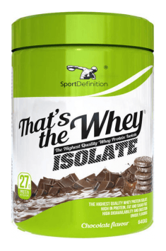 That's The Whey Isolate
